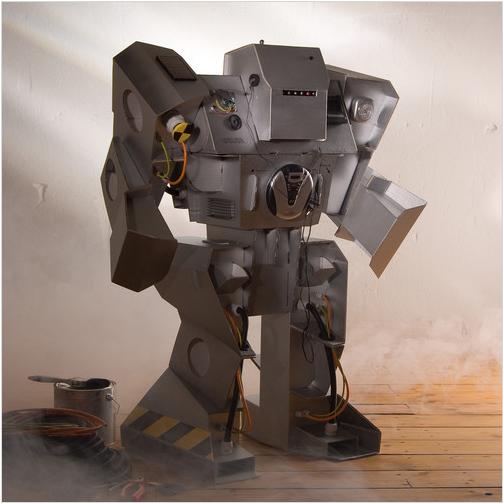 robot de carton reciclado imagui. Black Bedroom Furniture Sets. Home Design Ideas